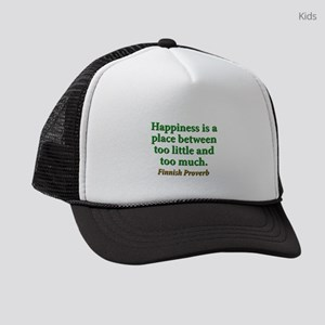 Happiness Is A Place Between Kids Trucker hat