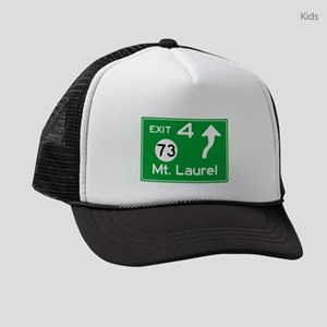 NJTP Logo-free Exit 4 Mt. Laurel Kids Trucker hat