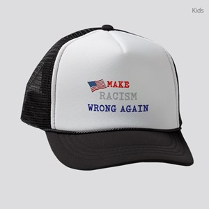 Make Racism Wrong Again Kids Trucker hat