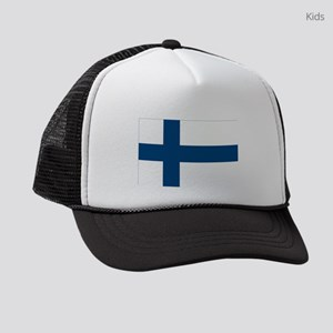 Finnish Flag Kids Trucker hat
