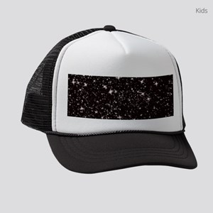 black starry night Kids Trucker hat