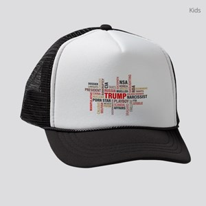 Trump Word Cloud Kids Trucker hat