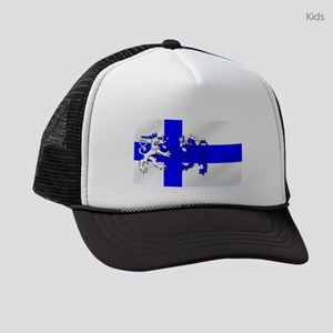 Finnish Lion Flag Kids Trucker hat