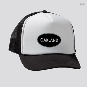 Oakland Black Oval Kids Trucker hat
