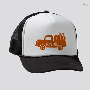 Happy Fall Old Vintage Fall Truck Kids Trucker hat