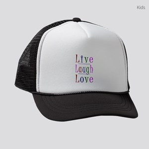 Live Laugh Love Kids Trucker hat