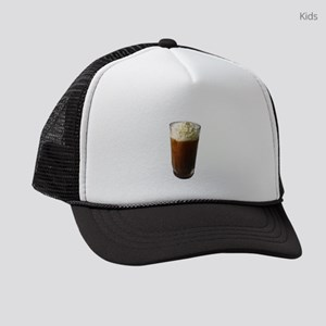 I Love Iced Coffee Whipped Cream Kids Trucker hat