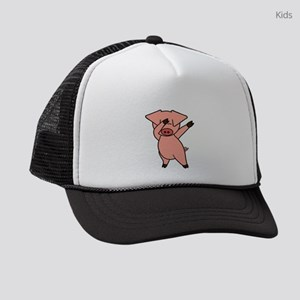 Dabbing Pig Kids Trucker hat
