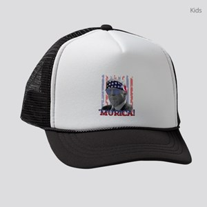 President Donald Trump Murica Vin Kids Trucker hat