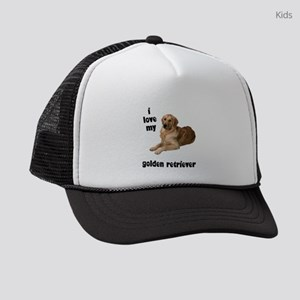 FIN-goldenretriever-lover Kids Trucker hat