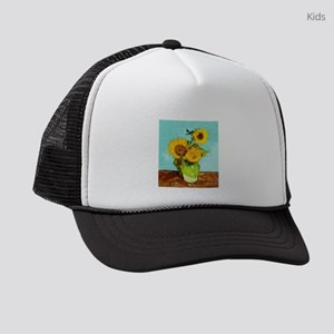 7bed70d63 Van Gogh Sunflowers Kids Trucker Hats - CafePress