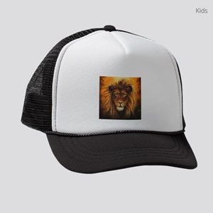 Lion Canvas Painting Kids Trucker hat
