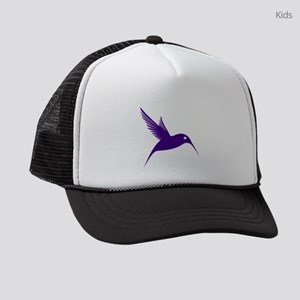 Purple Humming Bird Kids Trucker hat