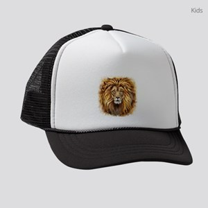 Artistic Lion Face Kids Trucker hat
