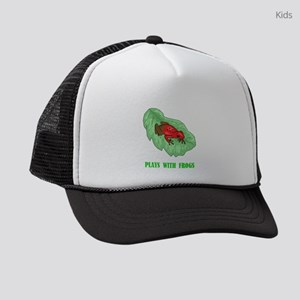 plays-with-frogs.ti... Kids Trucker hat