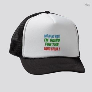 I Am Going For The Wing Chun Kids Trucker hat