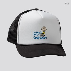WorldsBestGrandson Kids Trucker hat