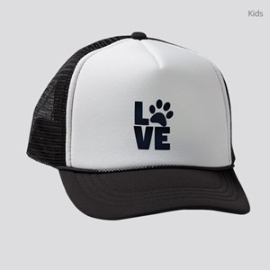 Love Pets Paw Cat Dog Cute Kids Trucker hat