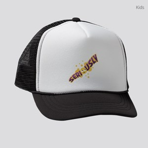 Emoji Seriously Kids Trucker hat