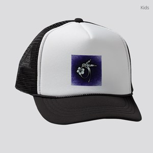 Purple Hummingbird Kids Trucker hat