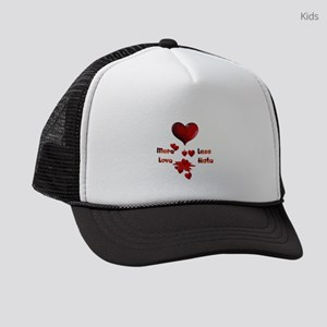 More Love Less Hate Kids Trucker hat