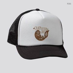 Crazy Otter Lady Kids Trucker hat