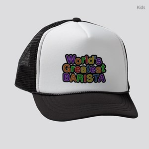 Worlds Greatest BARISTA Kids Trucker hat
