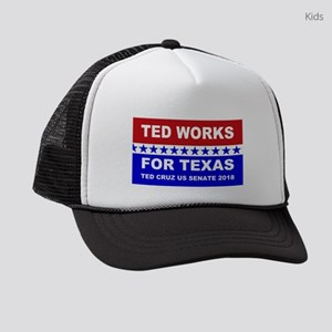 Ted works for Texas Kids Trucker hat