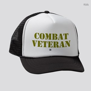 COMBAT VETERAN: - Kids Trucker hat