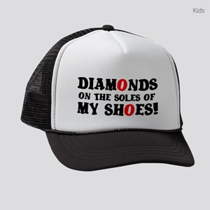 DIAMONDS ON THE SOLES OF MY SHOES Kids Trucker hat