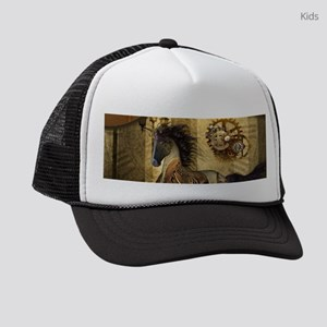 Wonderful steampunk horse Kids Trucker hat