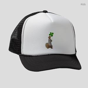 Squirrel 4 Leaf Clover Kids Trucker hat