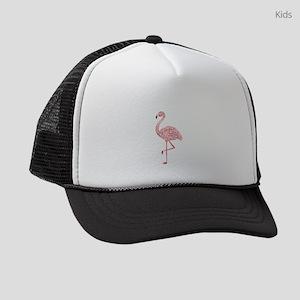 Funky Tribal Flamingo Kids Trucker hat
