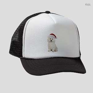 Bichon Frise Christmas Kids Trucker hat