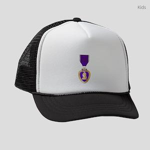 Purple Heart Medal Kids Trucker hat