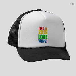June 26 2016 Love Wins Kids Trucker hat