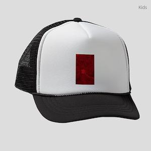 Red Geek Motherboard Circuit Patt Kids Trucker hat