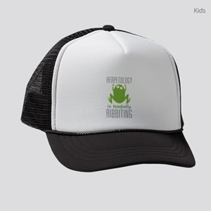 Herpetology Ribbiting Kids Trucker hat