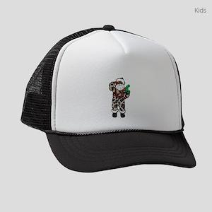 african leopard santa claus Kids Trucker hat