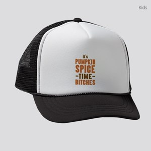 It's Pumpkin Spice TIme Bitches Kids Trucker hat
