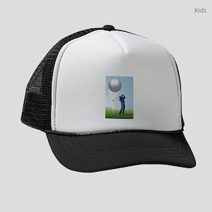 golf shoot Kids Trucker hat