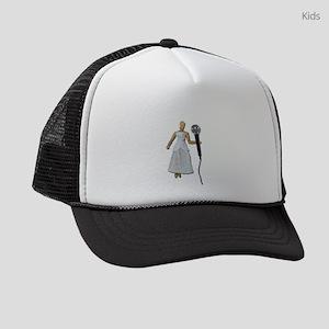 WomanUsingAudioMicrophone081311.p Kids Trucker hat