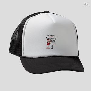 1st Birthday Girl Kids Trucker hat