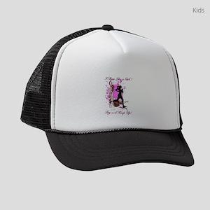 I run like a girl, try and keep u Kids Trucker hat
