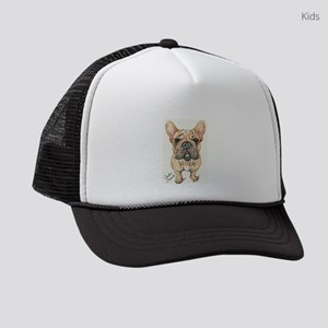 Red Fawn Frenchie Kids Trucker hat