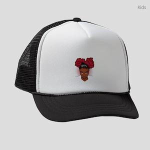 CurlyGirl Kinky Natural Hair Afro Kids Trucker hat