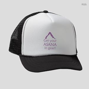 get-your-asana-in-gear_tr Kids Trucker hat