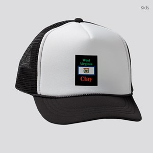 Clay West Virginia Kids Trucker hat