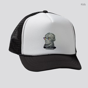Hamilton with Shades Kids Trucker hat