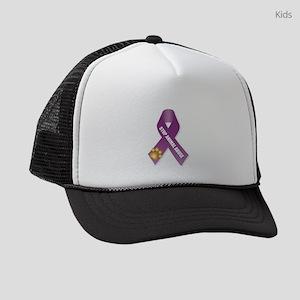 Stop Animal Abuse Ribbon Kids Trucker hat